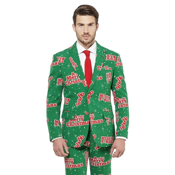 03364a8b8cbbb1 OppoSuits Suits & Blazers | Happy Holidude Christmas Suit And Tie ...